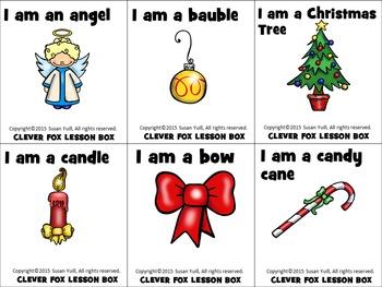 Christmas Vocabulary -  Review Cards