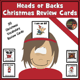 Christmas Vocabulary -  Review Cards