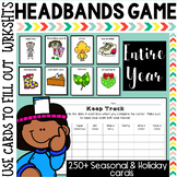 Headbands Game: Seasonal and Holidays Writing Center for the Entire Year