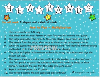 Headbands Math Game