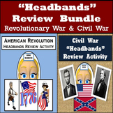 Headbands Review Games - 96 American Revolution & 96 Civil War Review Cards