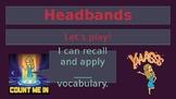 Headbands Vocabulary Review