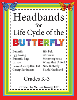 Headbands for Life Cycle of the Butterfly