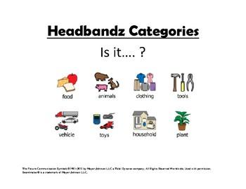 Headbanz Categories Visual Aid