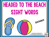 Headed To Beach! Sight Words