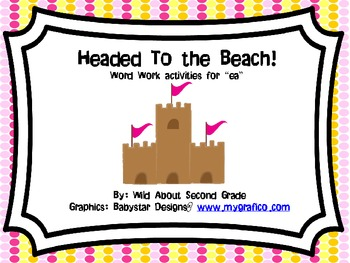 Headed to the Beach!  Word Work/Literacy Center for ea