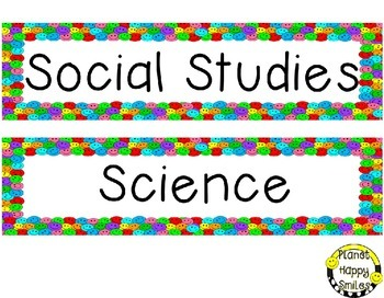 Header Cards (Special Request) ~ Multi Colored Happy Faces