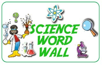 Header Cards for Math and Science Word Walls