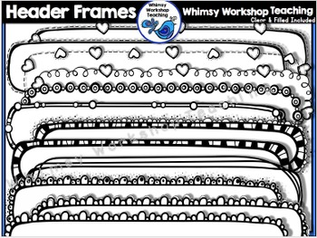 Header Frames Clip Art - Whimsy Workshop Teaching