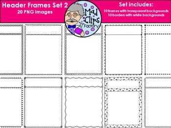 Header Frames Set 2