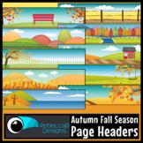 Autumn Headers Clip Art