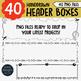 Headers Clipart • Worksheet Headers/Frames • Print Designs