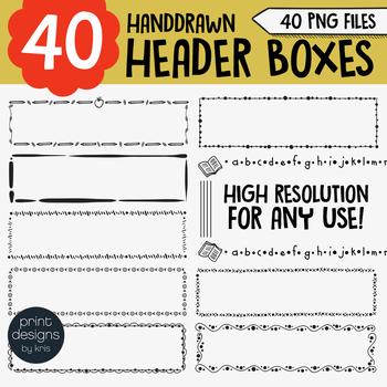 Headers Clipart • Worksheet Headers/Frames • Print Designs by Kris