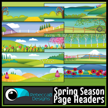 Seasonal Headers Clip Art Bundle