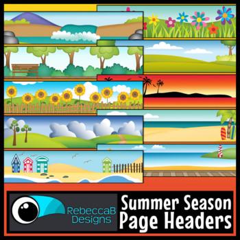 Summer Headers Clip Art