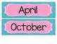 Headers for Calendar