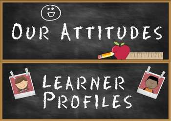 Headers for IB PYP Classroom Attitudes Set & Learner Profile Set A4 version