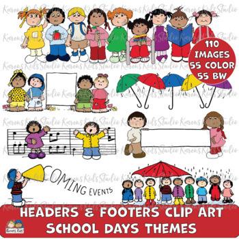 HeadersFooters SCHOOL DAYS SET