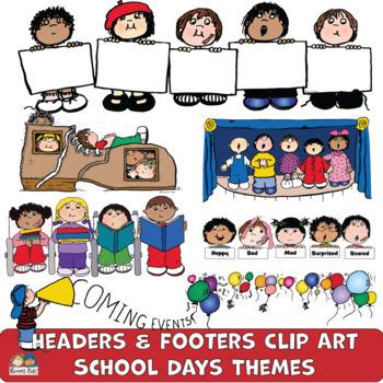 Headers SCHOOL DAYS SET (Karen's Kids Clip Art)