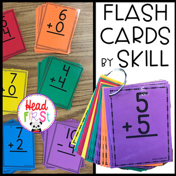 Headfirst Addition and Subtraction Math Flashcards - Organized by Skill