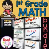 1st Grade Math Curriculum Bundle ~ Worksheets, Story Problems, Centers, Mats