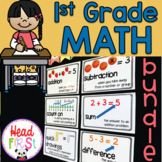1st Grade Math Curriculum Bundle Worksheets Story Problems Centers Flashcards