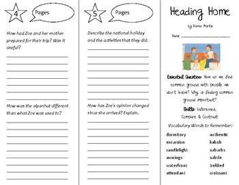Heading Home Trifold - Open Court 5th Grade Unit 3 Lesson 3
