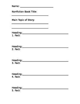Headings and Facts Grade Two and Above