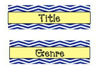 Headings for Bulletin Board: Title, Genre, Author, Theme