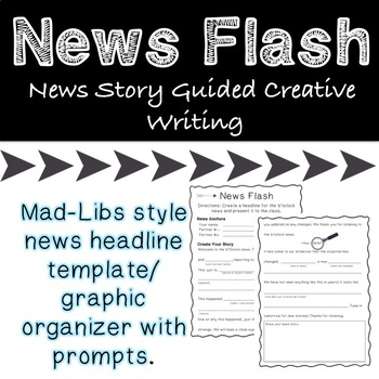 Headline News Guided Creative Story Writing *Great for Drama*