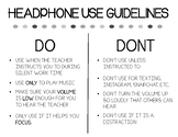 Headphone Guidelines Poster
