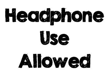 Headphone Use Classroom Poster
