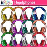 Headphone Clip Art   Rainbow Glitter Audio Devices for Music & Technology