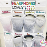 Headphones Storage Sign and Labels