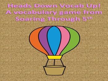 Heads Down Vocab Up Vocabulary Game