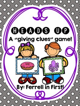 Heads Up: A Giving Clues game