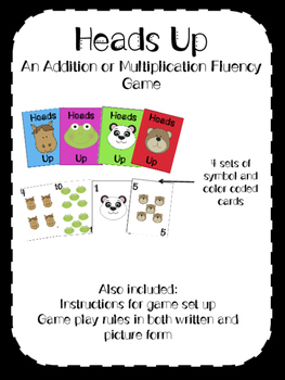Heads Up! A mathematic fact fluency game