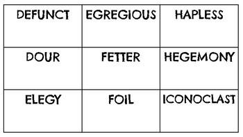 Heads Up!: An SAT Prep Vocabulary Game