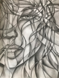 Heads Up! Fun value blending and abstracting faces in pencil