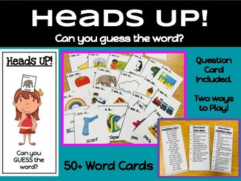 Heads Up Game: (Head Bands): Can you guess the word?