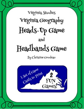 Heads Up & Headbands Virginia Studies Review Games - Geography
