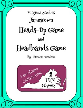 Heads Up & Headbands Virginia Studies Review Games - Jamestown