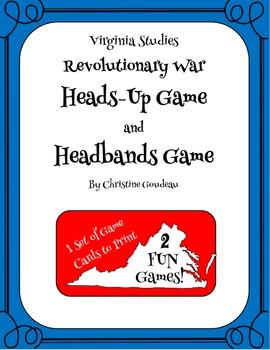Heads Up & Headbands Virginia Studies Review Games - Revolutionary War
