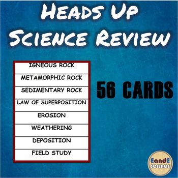 Heads Up Science Review Game