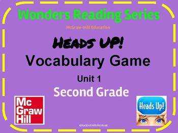 Heads Up!  Wonders Reading Vocabulary Game