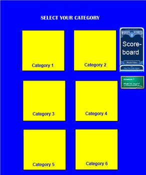 Heads Up for the Smart Board! Customizable Template for any subject or grade!