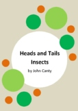 Heads and Tails - Insects by John Canty - 13 Worksheets