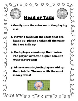 Heads or Tails Money Center Game - CCSS & MAFS
