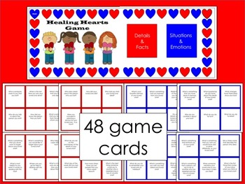 Healing Hearts Game:  A Game for Children Who Have Experienced Grief/Loss