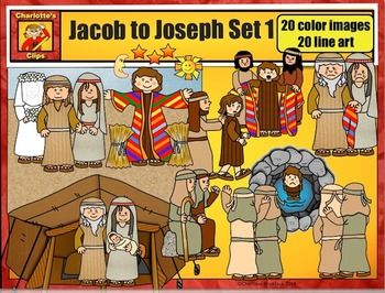 Jacob to Joseph: Bible Series Set 1 by Charlotte's Clips
